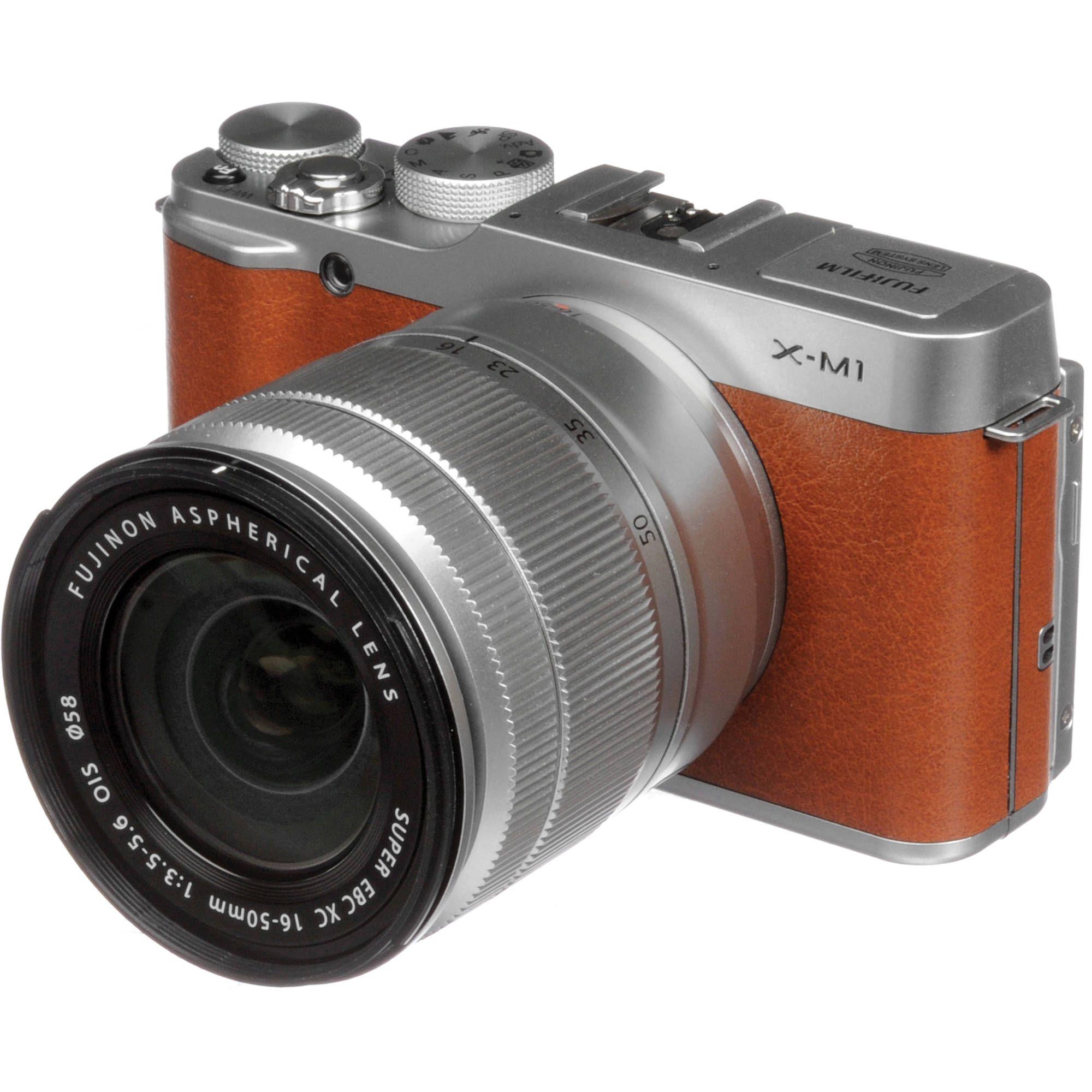Fujifilm X M1 Mirrorless Digital Camera With 16 50mm Lens Brown Digital Camera Digital Mirrorless Camera