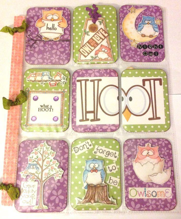 owls pocket letters   Pocket Letters Owl themed pocket letter