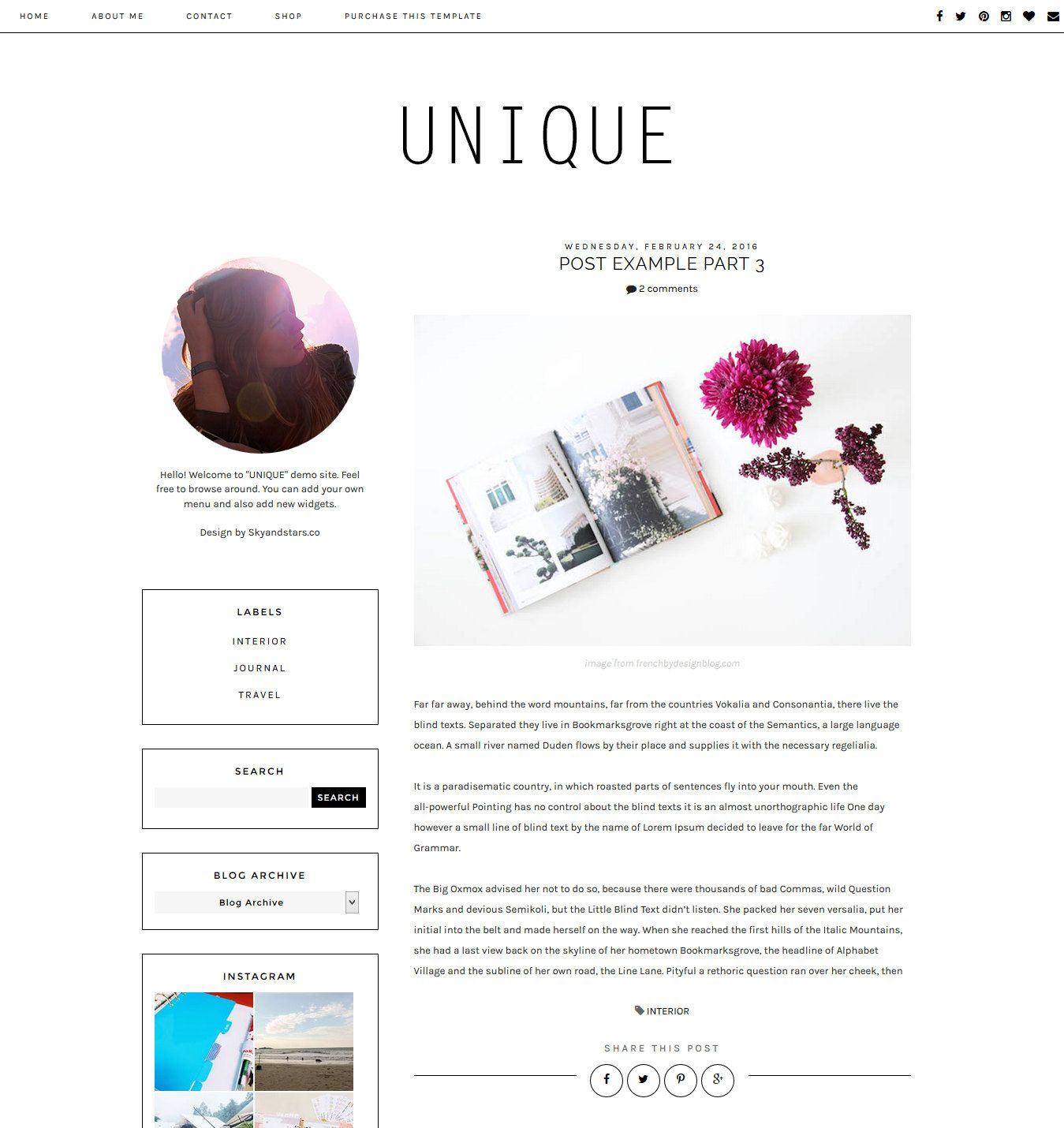 NEW Premade Blogger Template - Clean Blog Design - Blog Layout ...