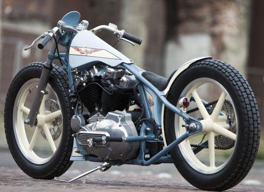 Custom Harley Sportster Ironhead Built For A Rockabilly Speed Freak