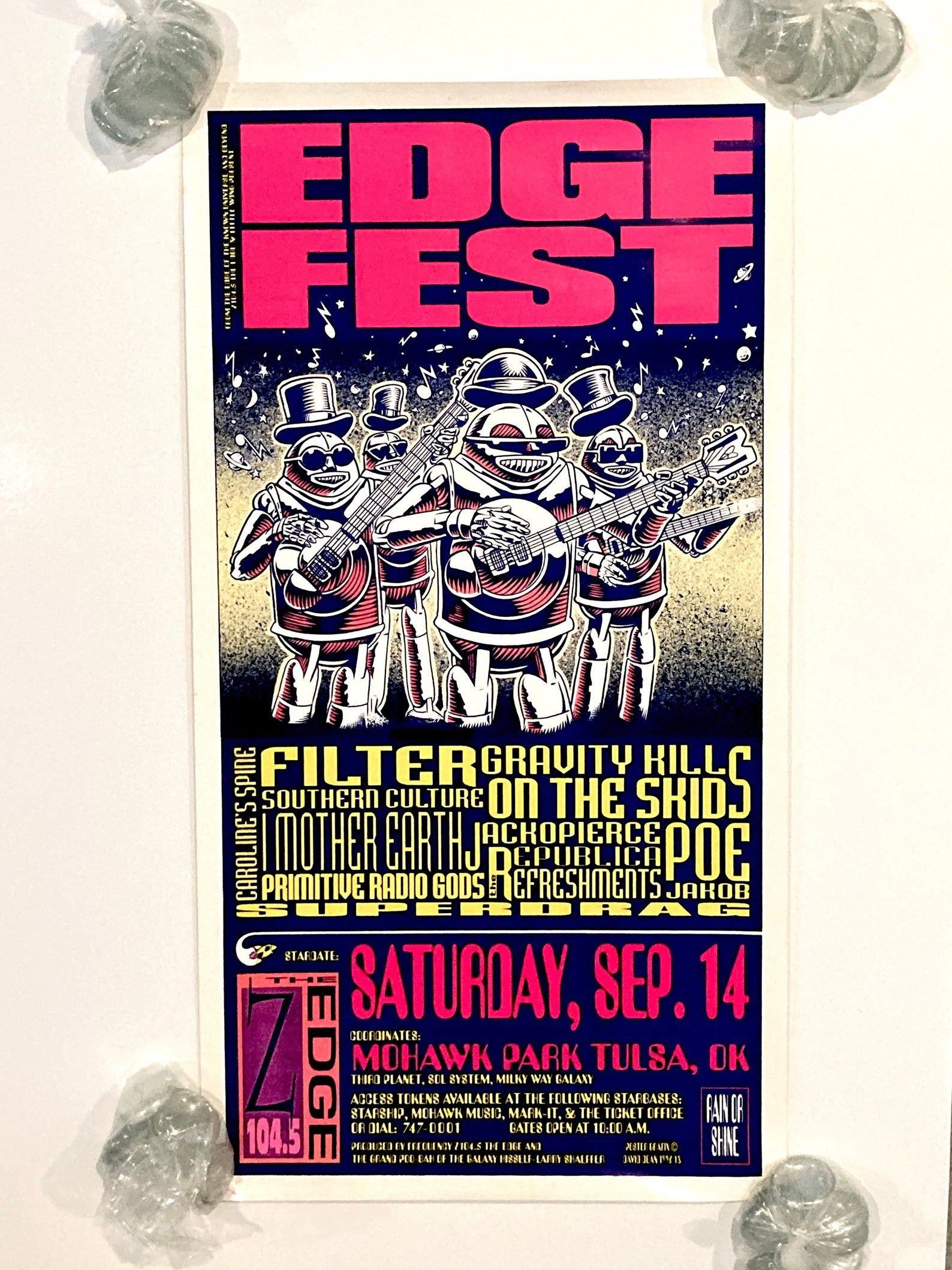Edgefest Poster 1996 Vintage Concert Tour Filter / I
