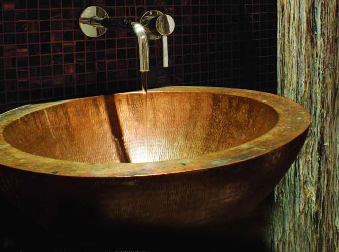 vasque de salle de bain cuivre