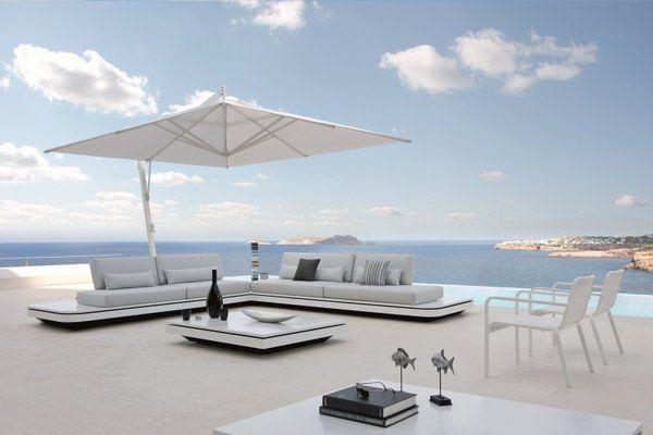 Large Patio Umbrella Cantilever Umbrellas White Rectangular Umbrella