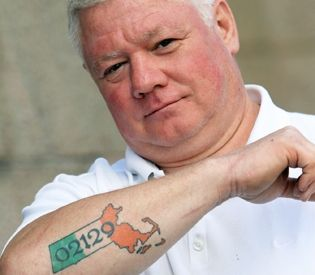 irish gang tattoos tough guy s tattoo is talk of