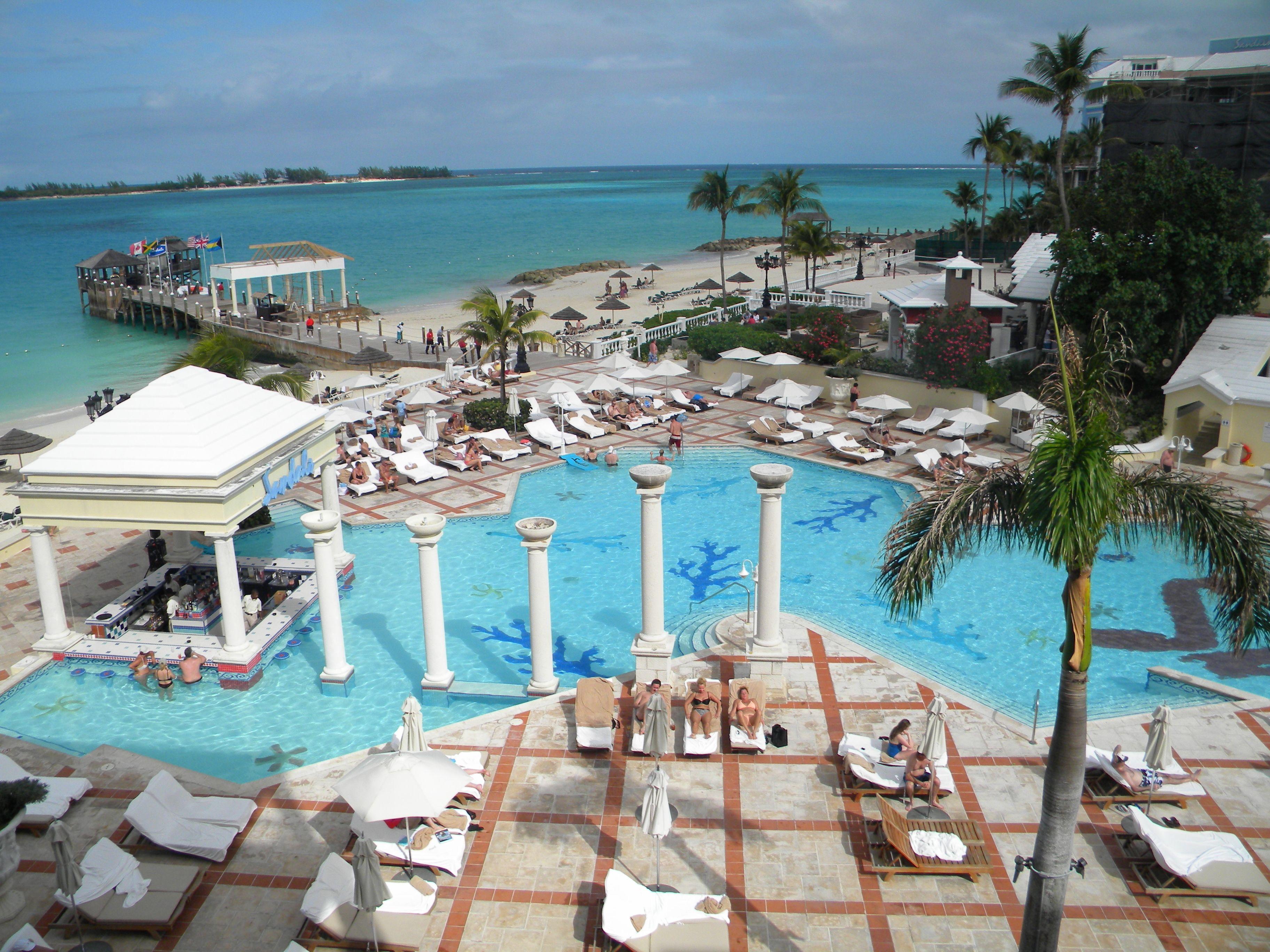 Main Pool at the Sandals Royal Bahamian Resort This