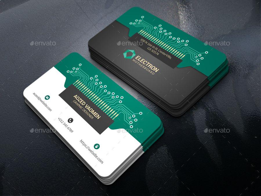 Electronics Business Card Business Card Design Minimal Electronic Business Business Cards