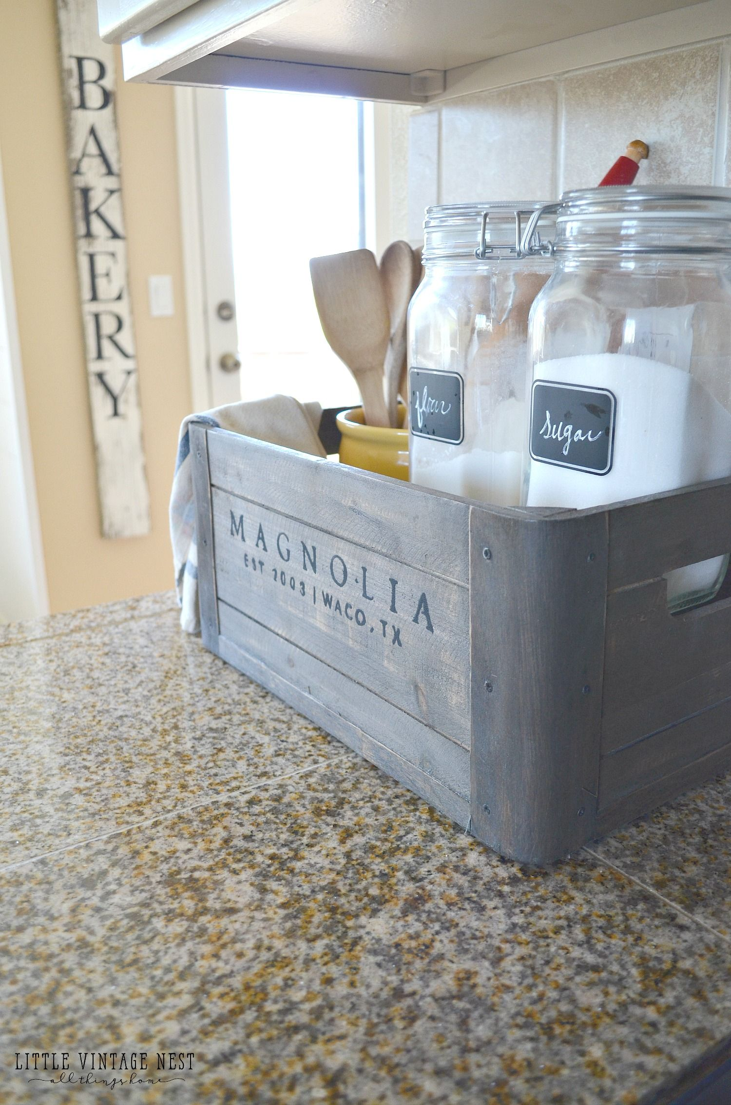 5 Ways to Style a Wooden Crate | Farmhouse kitchen decor, Wooden ...