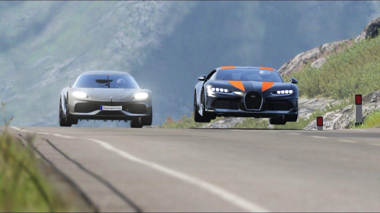 Koenigsegg Gemera vs Bugatti Chiron Super Sport 300+ at Highlands