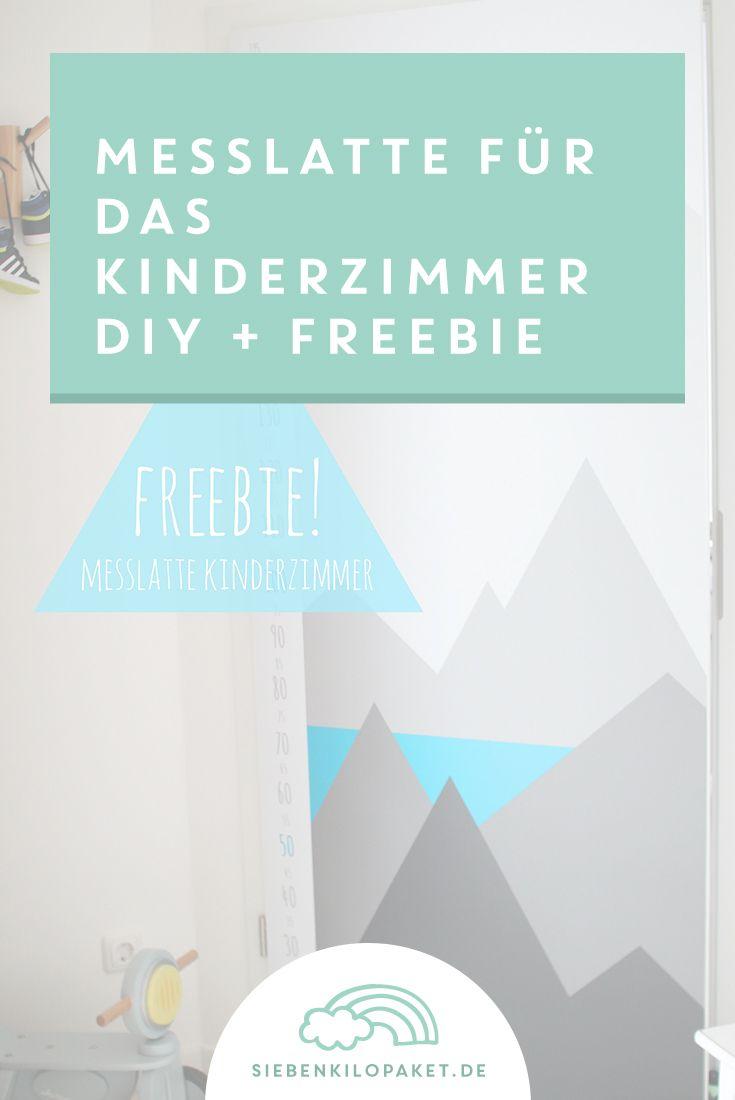 Freebie: Messlatte für Kinder - Zimmertür mit Folie bekleben ...
