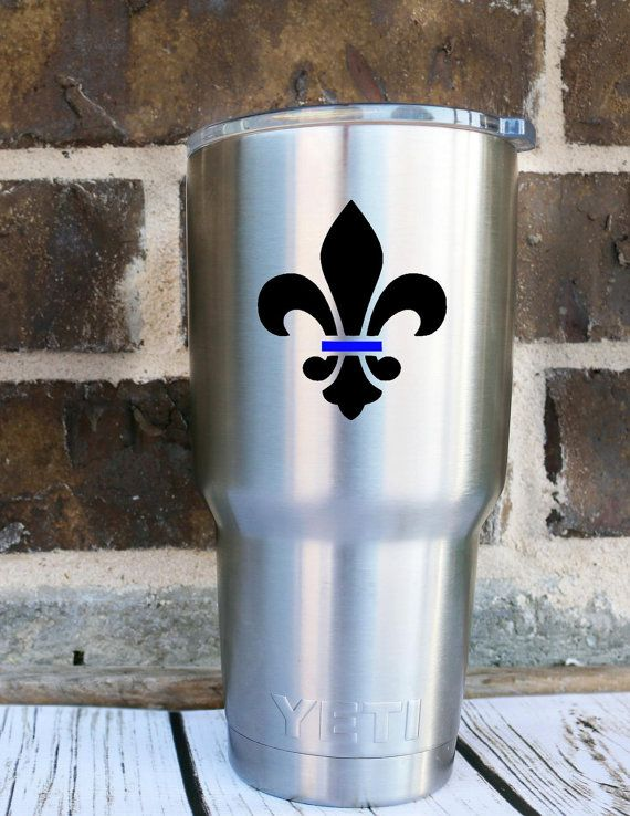 Fleur De Lis | Back The Blue Police Lives Matter Decal - Yeti Decal - Car Decal - Support - Police Wife - Police Family - Back The Blue -