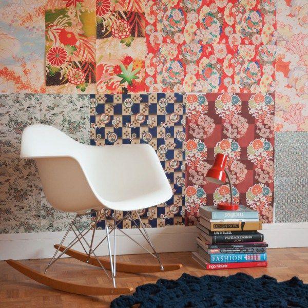Déco murale en feuilles de papier - Crédit photo: Pep Up Design