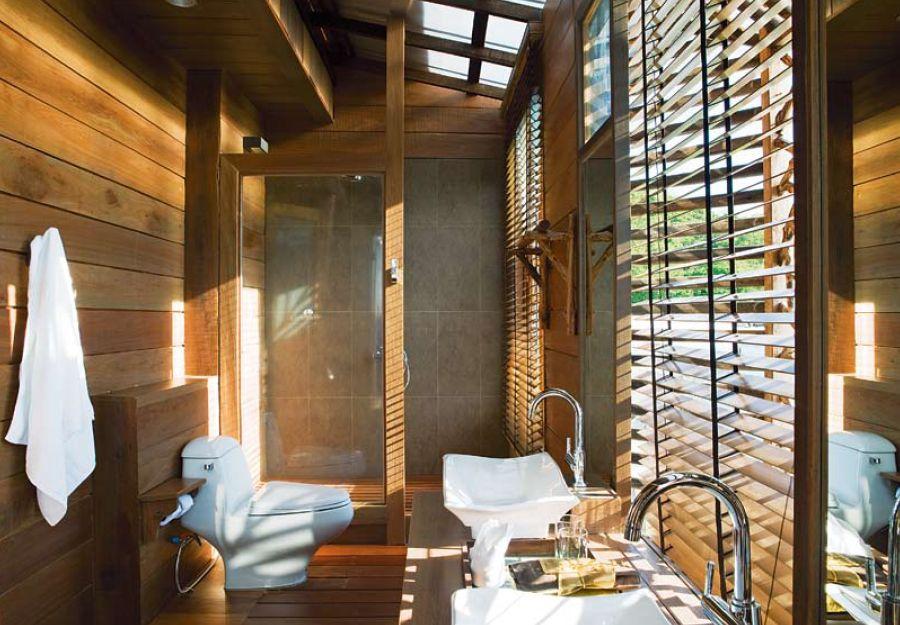 ห้องน้ำที่ใช้ไม้เป็นหลัก ชอบ