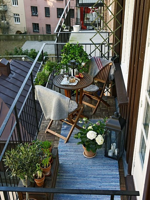 20 id es d co pour terrasses x balcons kutch x couture for Deco balcon terrasse