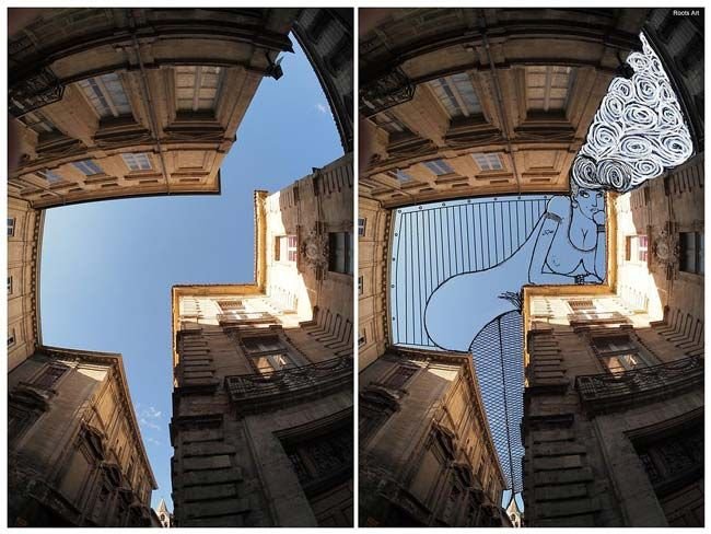 Thomas Lamadieu: El artista que dibuja en los cielos de París