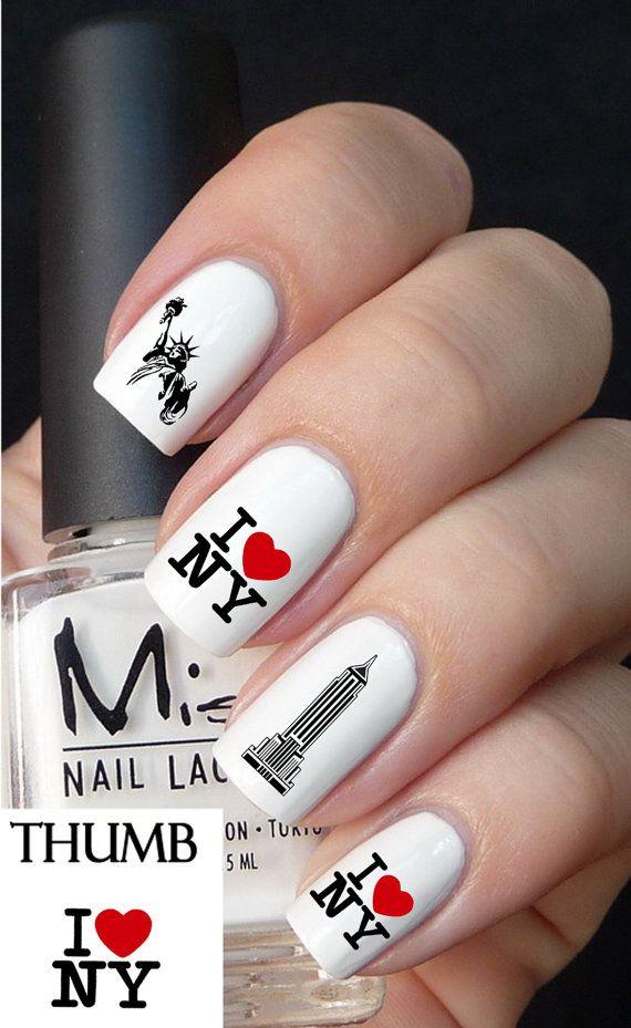 I Love New York Nail Decal Nail Art Designs Pinterest Nails