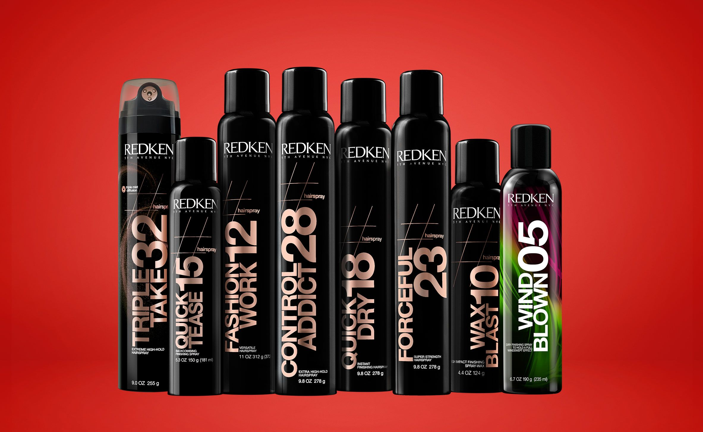 Redken 5th Avenue Nyc Hairspray Product Line Redken Redken