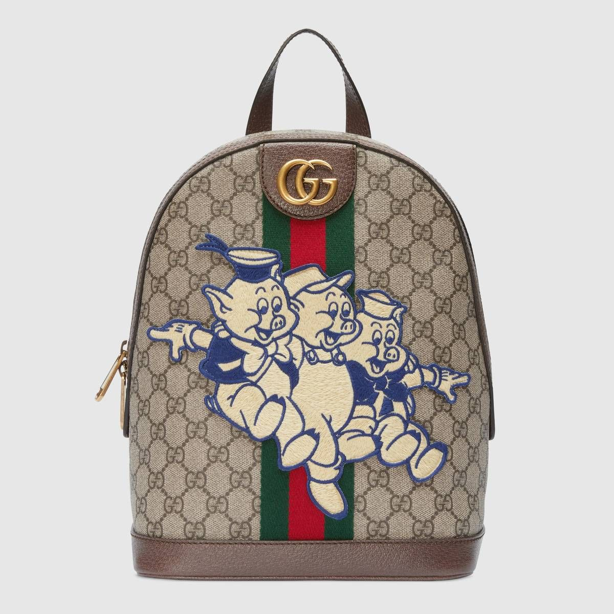eff934c436b Shop the Ophidia GG backpack with Three Little Pigs by Gucci. In honor of  the Chinese calendar s year of the pig