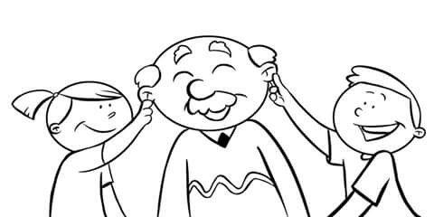 La Familia Abuelo Nietos Abuelos Para Colorear Dia Del Abuelo Imagenes De Abuelitos