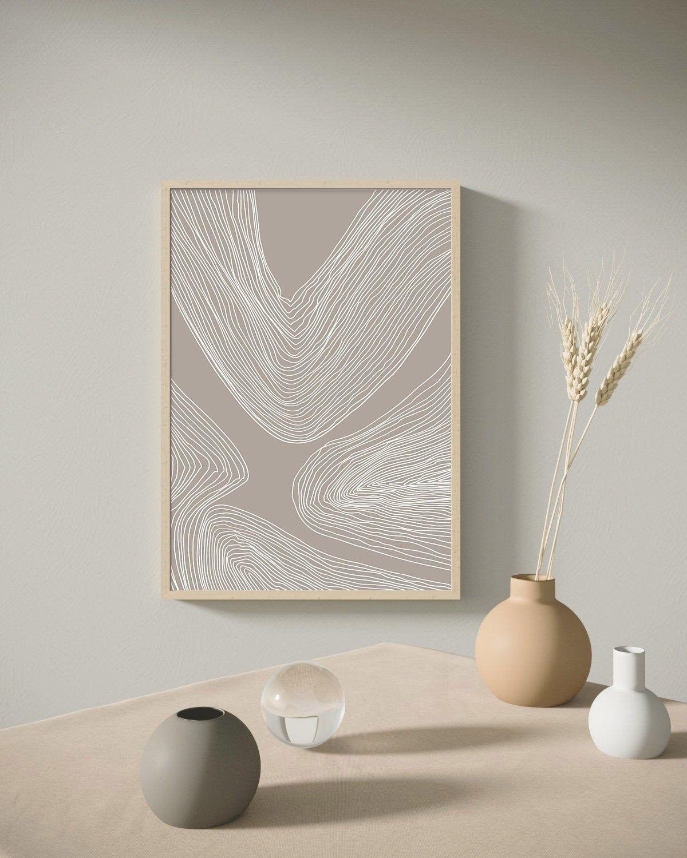 Line Art Print Digital Prints Modern Abstract Art Large Etsy Neutral Wall Art Modern Art Abstract Wall Art Decor Living Room