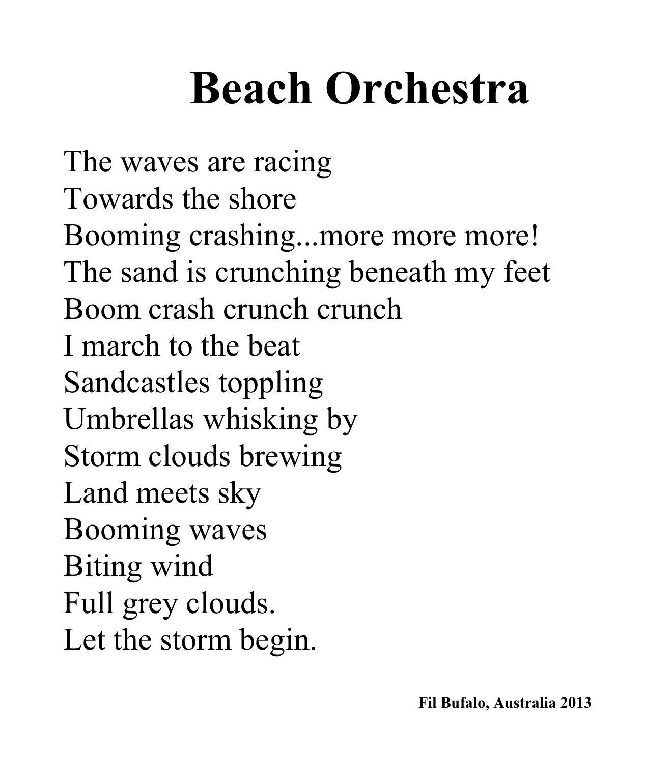 Great Poem For Onomatopoeia