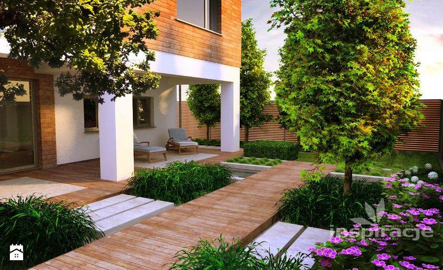Nowoczesny ogród wodny - zdjęcie od Studio projektowe INSPIRACJE - jardines modernos