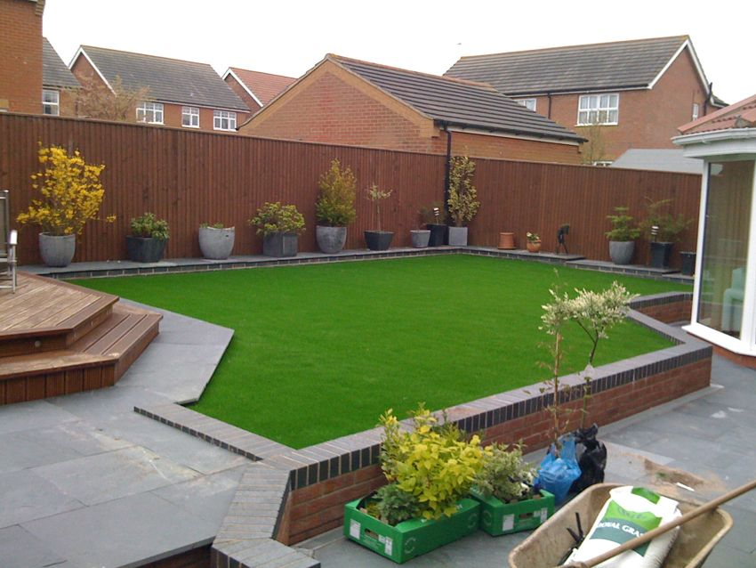 Garden Design With Artificial Grass artificial grass very modern cut with straight lines