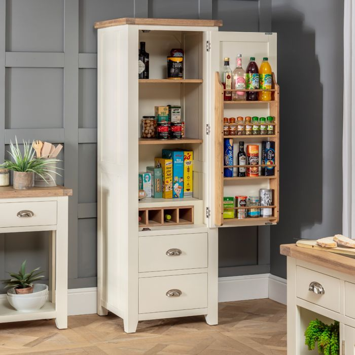 Cheshire Cream Painted Kitchen Large Single Larder Pantry ...
