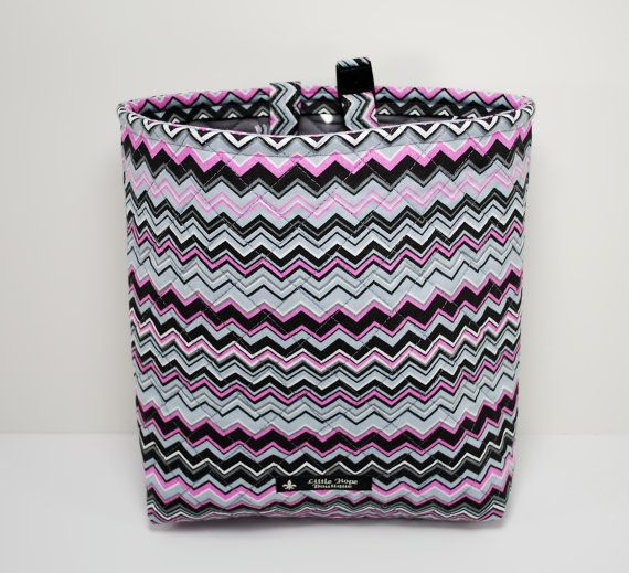 Quilted Auto Trash Bag / Car Trash Bag / by LittleHopeBoutique, $20.00