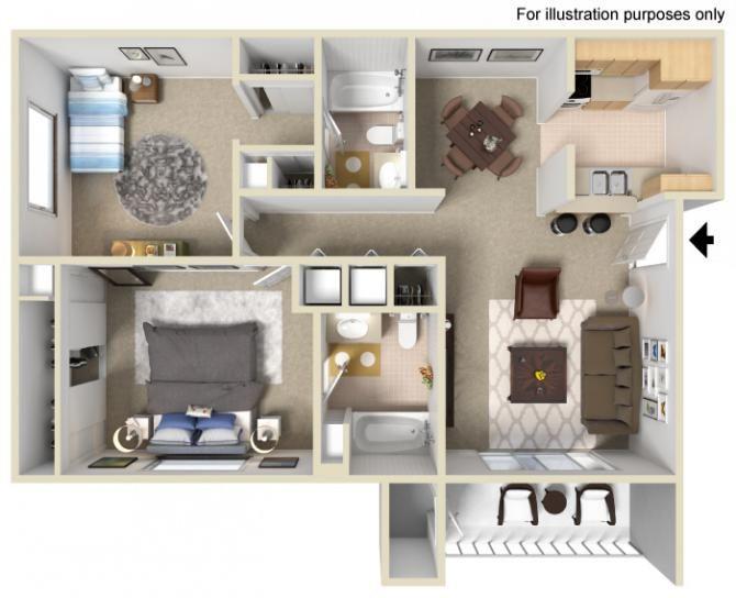 2 Bedrooms 2 Bathrooms 950 Sq Ft Apartments For Rent Apartment Communities Forrent Com