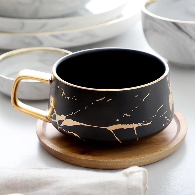 Beautiful Gold Marble Ceramic Coffee/Tea Cups #coffeecups