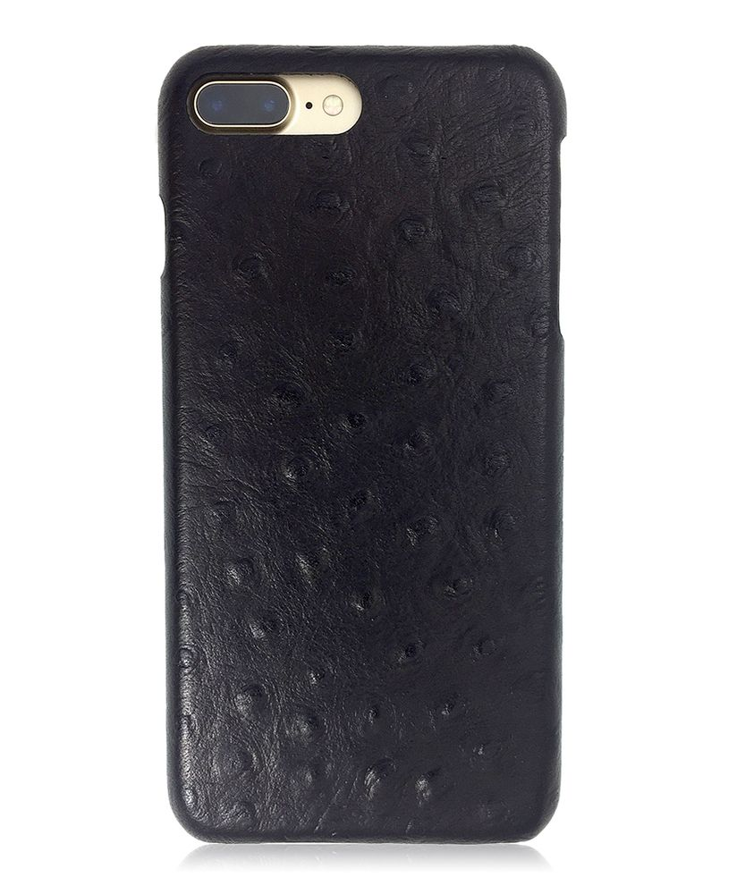 new styles 45d12 b1068 Burkley Leather Snap-on Case for Apple iPhone 7 Plus in Ostrich ...