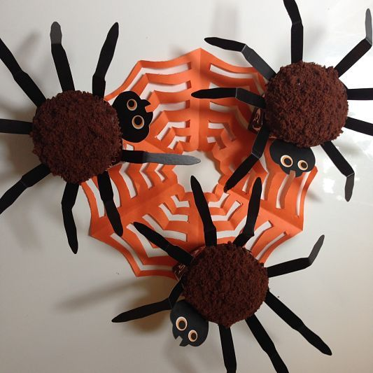 Spooky Chocolate Spider Halloween Cupcakes This delicious cupcake recipe is easy to whip up and makes a spooky treat for a Halloween party.  Forget pretty and dainty, have fun making some that will bite back,  look spooky and scary, but still taste divine and delicious. Recipe at: www.foreverbaking.co.uk