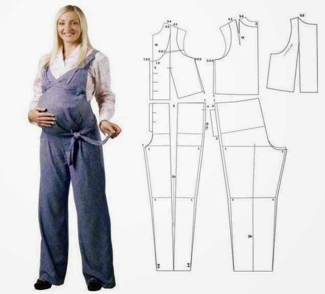 Moda e Dicas de Costura: MACACÃO PARA GRÁVIDAS