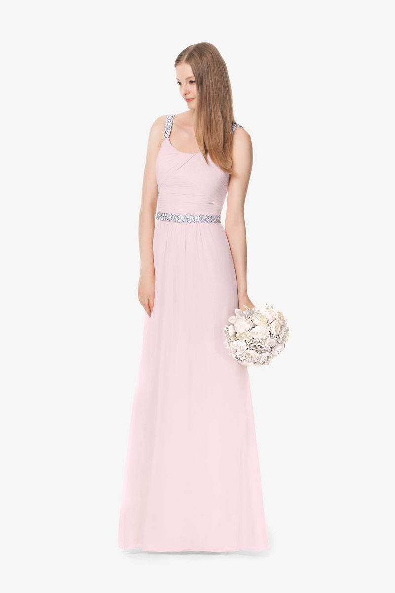 Lauren bridesmaid gown by david tutera for gather u gown light pink