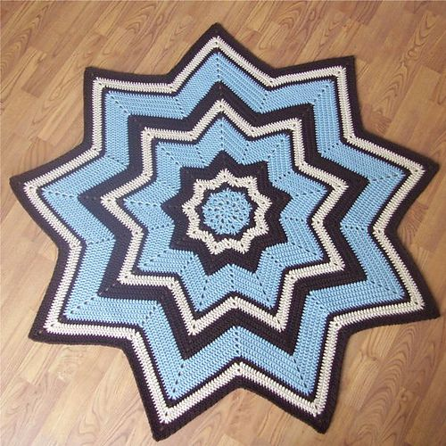 Ravelry: 9-Pointed Star Round Ripple pattern by Gene Saunders - free ...