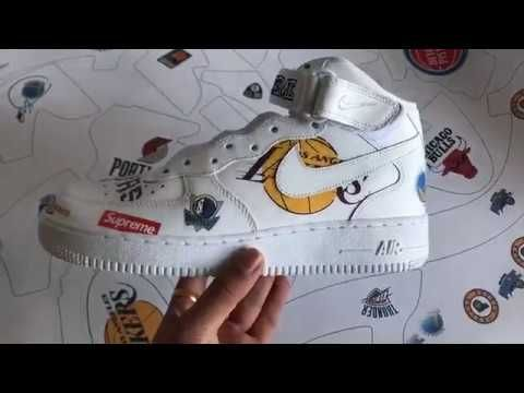 Early look the Supreme x NBA x Nike Air Force 1 Mid White from kicks