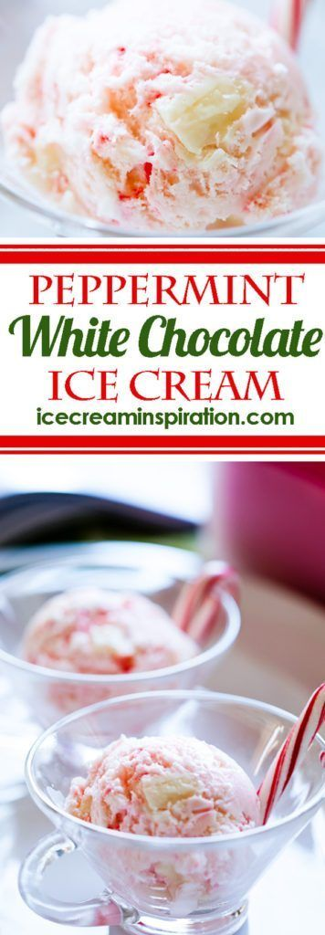 Peppermint Ice Cream with White Chocolate - Beautiful Life and Home #icecreampopsicle