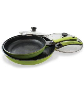 4 piece Cookware Ceramic Nonstick Beautiful
