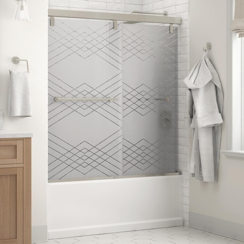 Delta Mandara 60 X 59 1 4 In Frameless Mod Soft Close Sliding