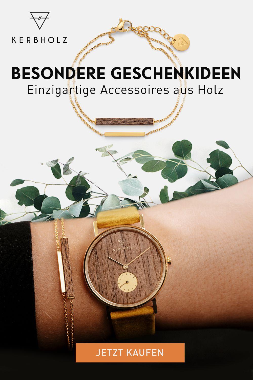 Besondere Geschenkidee - eine Holzuhr von KERBHOLZ #persönlichegeschenke