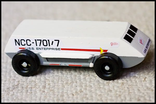 Car Manufacturers Derby Mail: Star Trek Pinewood Derby Car