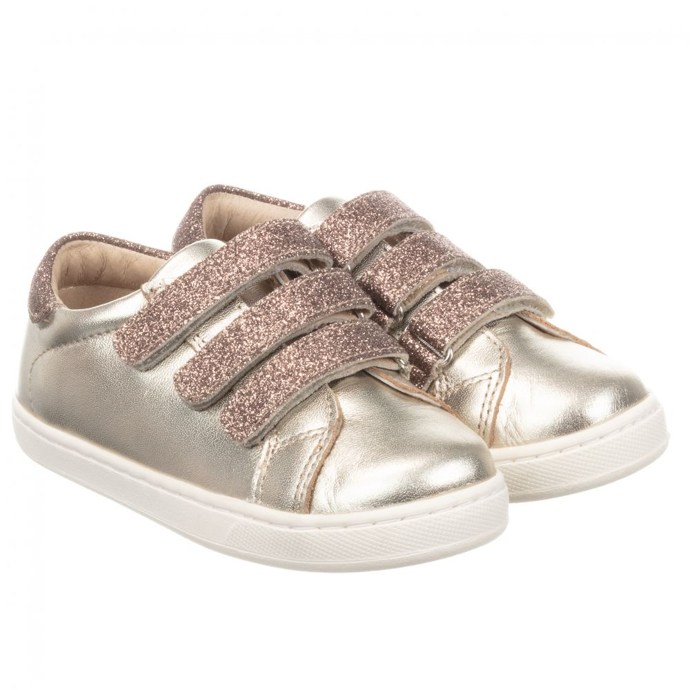 Girls metallic gold trainers from Old
