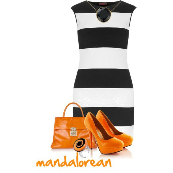"""Orange It Up"" by mandalorean on Polyvore"