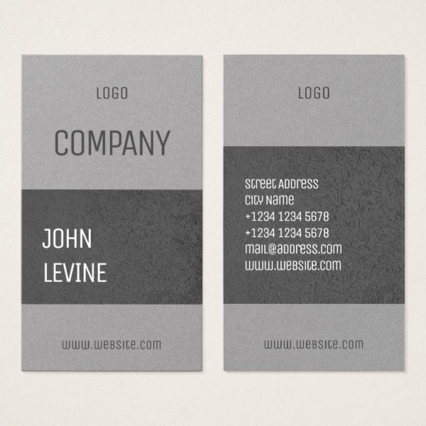 vertical white with concrete cover business card custom office