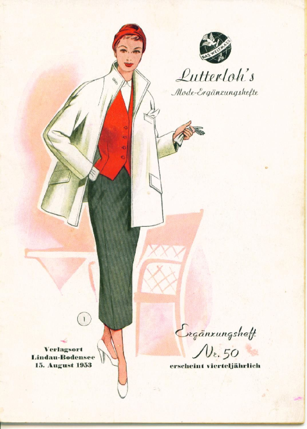 Vintage Lutterloh Sewing Patterns 50 autumn 1953 Patternmaking ...