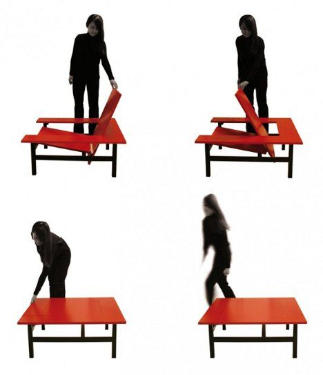The Transforming Sweetch18 Is A Slick Armchair That Doubles As A Coffee  Table.