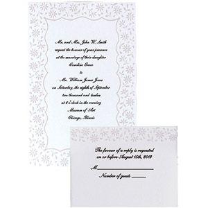 Invitation Kit Makes 50 Flirty Fleur Walmart Com Wedding Invitation Kits Invitation Kits Wedding Invitations