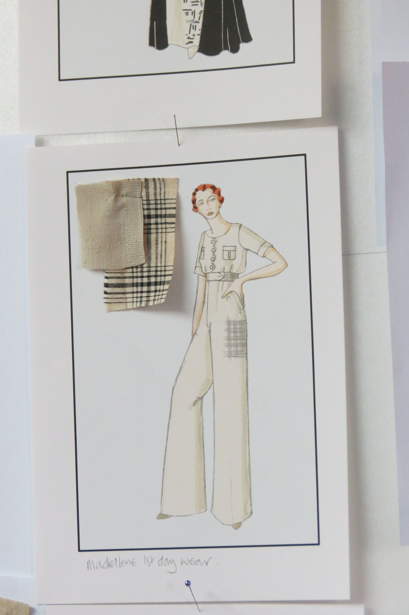 Madeleine daywear sketch from Indian Summers Costume Designer Nic Ede | Courtesy of Rebecca Eaton for MASTERPIECE