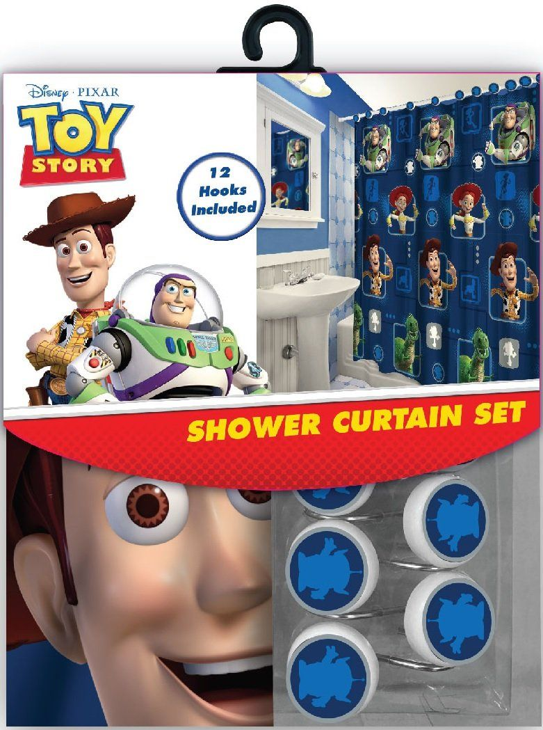 Toy Story Bathroom Toy Story Decor 12 Matching Hooks 72 Inches