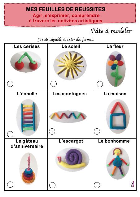 Feuille de route pâte à modeler MS - La maternelle de Vivi ...